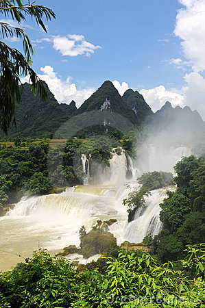 The Detian waterfall in China