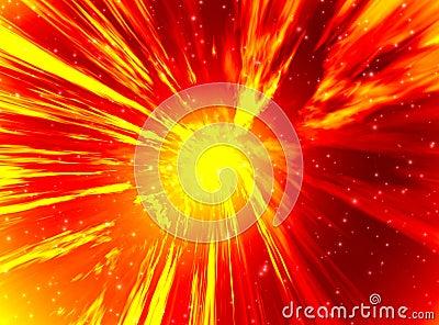 Detonation in space