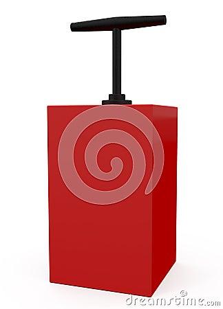 Detonator Red isolated on white