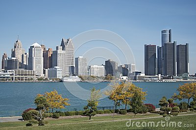 Detroit Skyline, Windsor Foreground