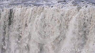 Dettifos waterval IJsland stock video