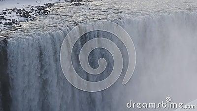 Dettifoss в Исландии 4K акции видеоматериалы