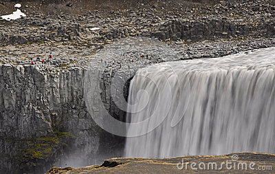 Dettifoss waterfall detail