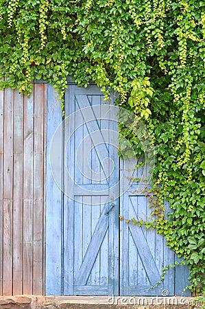 Deur in tuin en installatie