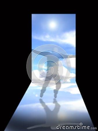 Deuropening aan hemel
