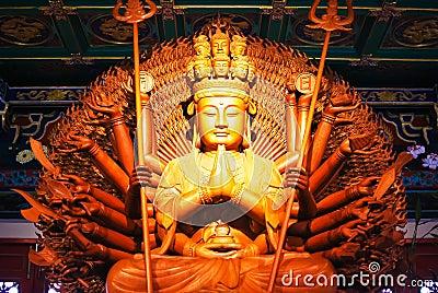 Deusa da estátua de madeira da mercê