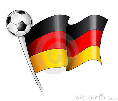 Deutsche Fußball-Markierungsfahnen-Abbildung