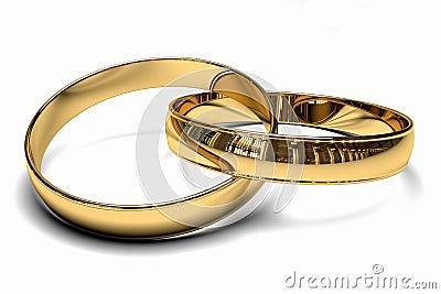Photo libre de droits: Deux anneaux de mariage d or