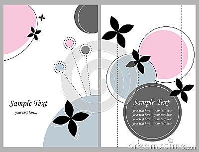 Deux cartes de voeux florales
