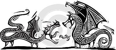 Deux dragons