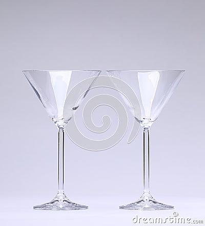 Deux glaces de cocktail