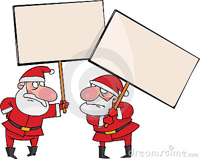 Deux Santa fâchée