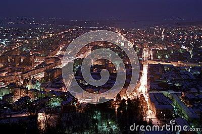 Deva night, Romania