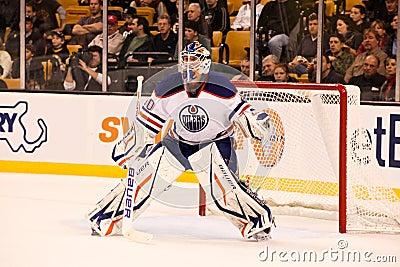 DEVAN DUBNYK  Edmonton Oilers Editorial Image