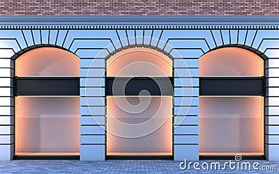 devanture de magasin vide classique photo stock image 18137200. Black Bedroom Furniture Sets. Home Design Ideas