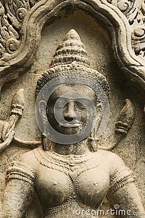 Free Devata Sculpture, Preah Khan Temple, Cambodia Stock Photos - 30053023