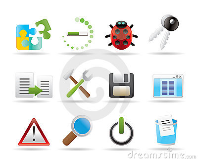 Developer, programming and application icons