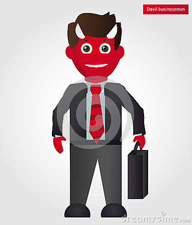 Devil businessman