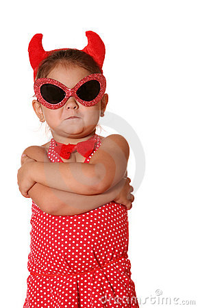Free Devil Child Royalty Free Stock Photos - 3308178