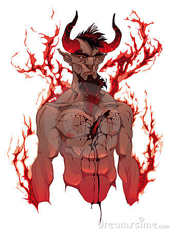 Free Devil. Demon S Portrait Royalty Free Stock Photos - 19550848