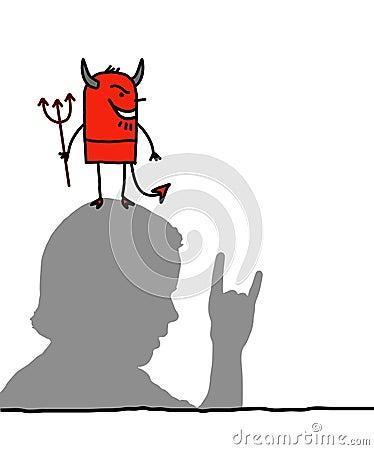 Devil & hand sign