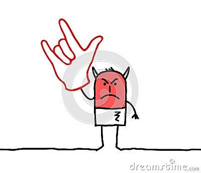 Devil hand sign