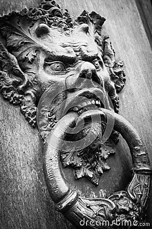 Free Devil Head Door Knocker Stock Images - 26621254