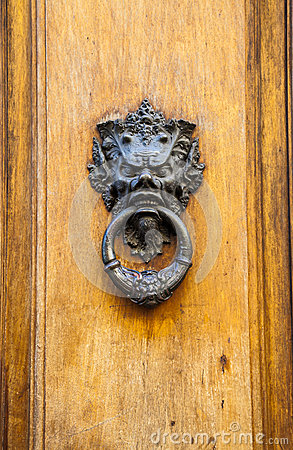 Free Devil Head Door Knocker Royalty Free Stock Photo - 29260495