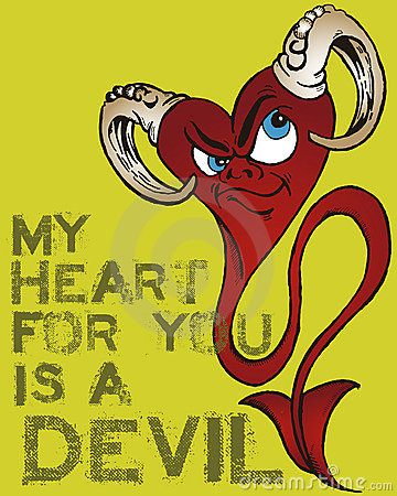 Devil heart illustration