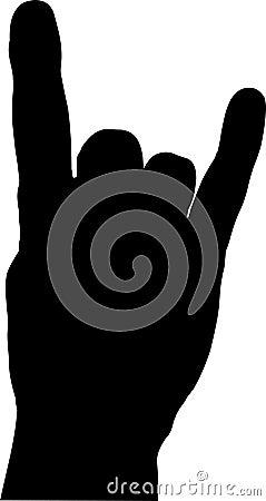 Devil Horns Hand Gesture