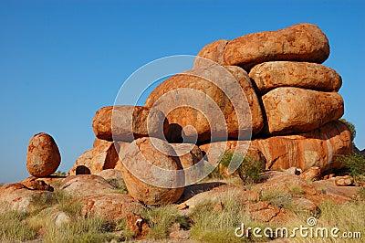 Devil s marble, australia outback