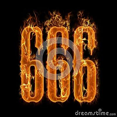 Free Devil S Number 666 Stock Photo - 13284740