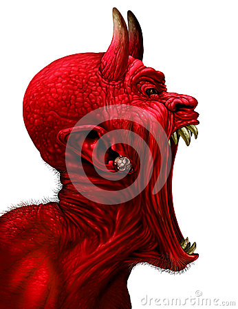 Free Devil Scream Stock Photo - 78896620