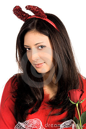 Free Devil Woman Close Up Stock Photo - 463780