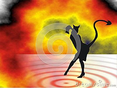 Devil woman in hell