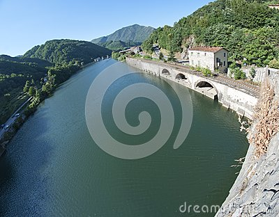 Devils Bridge Fisheye View, Lucca
