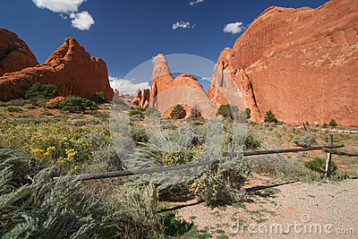 Devils Garden at the Arches National Park