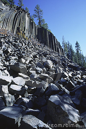 Devils Postpile National Monument in California