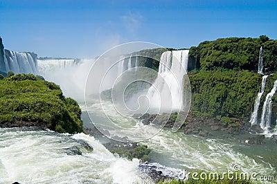 Devils Throat in Iguazu Falls Brazilian Side