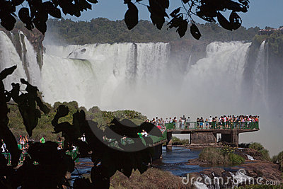 Devils Throat Waterfall Foz do Iguassu Brazil Editorial Image