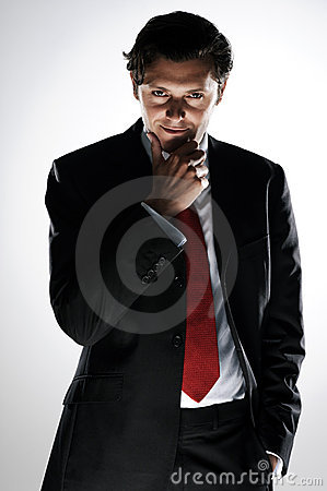 Free Devious Businessman Stock Photography - 22749652