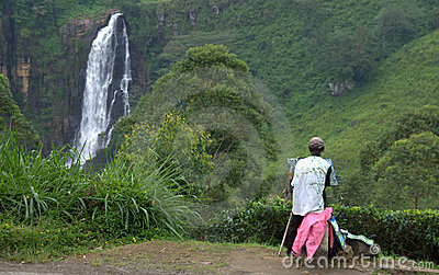 Devon Waterfall in Sri Lanka Editorial Image