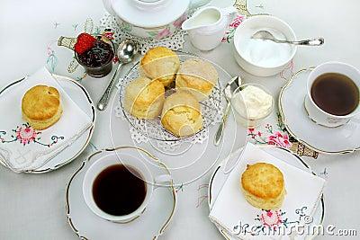 Devonshire Tea And Scones Royalty Free Stock Photos