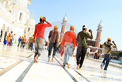 Devotees at golden temple Editorial Photo
