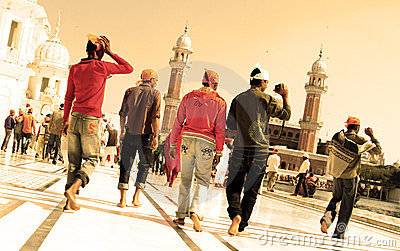 Devotees at golden temple Editorial Photography