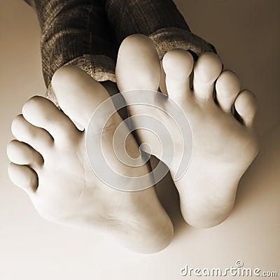 Dez dedos do pé