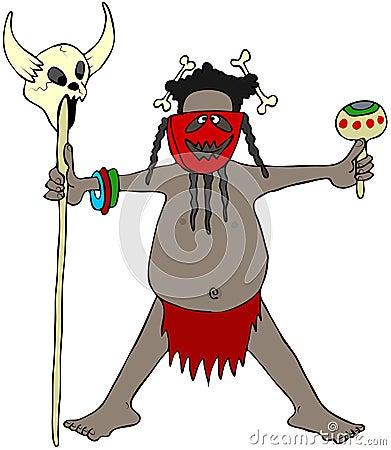 De koppensneller van de kannibaal