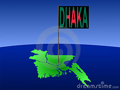 Dhaka on Bangladesh map