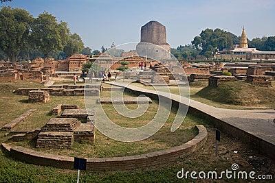 Dhamekha Stupa Sarnath Editorial Image
