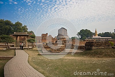 Dhamekha Stupa Sarnath Editorial Stock Photo